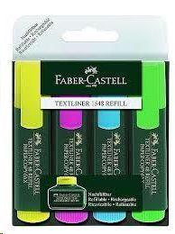 FLUORESCENTE FABER CASTELL TEXTLINER 1548 REFILL 4U