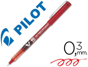 ROTULADOR PILOT PUNTA AGUJA V-5 ROJO 0.5 MM.