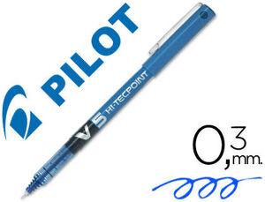 ROTULADOR PILOT PUNTA AGUJA V-5 AZUL 0.5 MM.