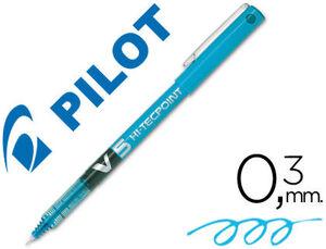 ROTULADOR PILOT PUNTA AGUJA V-5 AZUL CLARO 0.5 MM.
