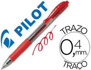 BOLIGRAFO PILOT G-2 ROJO TINTA GEL -RETRACTIL -