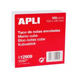 TACO NOTAS BLANCO ENCOLADAS APLI 100X100