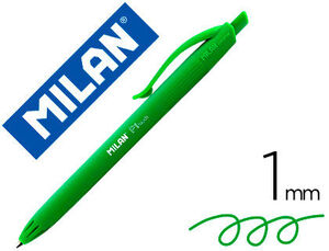 BOLIGRAFO MILAN P1 RETRACTIL 1 MM TOUCH VERDE