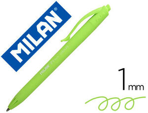 BOLIGRAFO MILAN P1 RETRACTIL 1 MM TOUCH VERDE CLARO