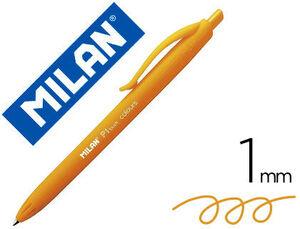 BOLIGRAFO MILAN P1 RETRACTIL 1 MM TOUCH NARANJA