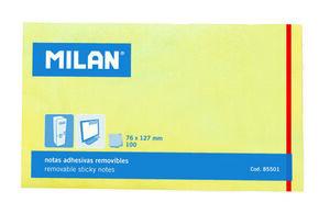 NOTAS ADHESIVAS MILAN 125X75 AMARILLO