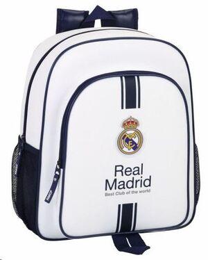MOCHILA REAL MADRID BLANCA ADAPTABLE CARRO