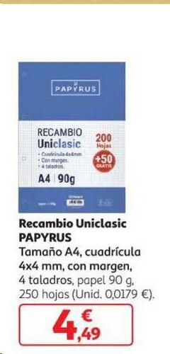 RECAMBIO PAPYRUS A5