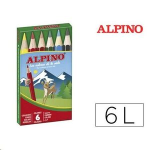 LAPICES ALPINO 6 CORTOS