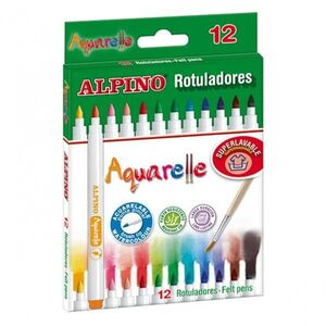 ROTULADORES ALPINO AQUARELLE 12