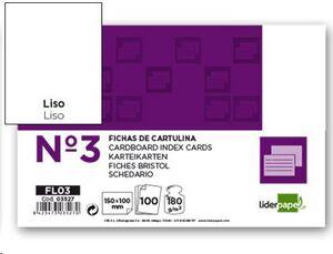FICHAS CARTULINA LISAS 150X100