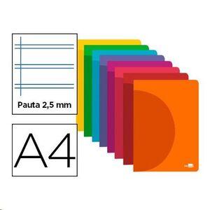 CUADERNO LIDERPAPEL A4 TAPA PP PAUTA 2,5MM