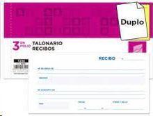 TALONARIO LIDERPAPEL RECIBOS 1/3 DUPLICADO