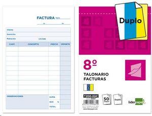 TALONARIO LIDERPAPEL FACTURAS Nº8 DUPLO
