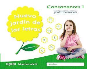 NUEVO JARDÍN DE LAS LETRAS, CONSONANTES 1, LECTOESCRITURA PAUTA, EDUCACIÓN INFANTIL, 5 AÑOS : CUADER